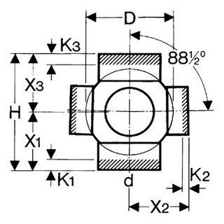 valsir Doppel-Abzweig 180° PE 110/56mm