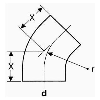 valsir Segmentbogen 45° PE 200mm