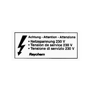 Raychem Aufkleber LAB-ETL-CH