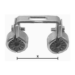 "SK Doppelrohrschelle 225 3/8"" 40mm"