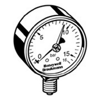 "Honeywell Manometer M 76 K-16A 1/4"""