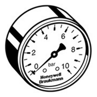 "Honeywell Manometer M 07 M-A10 1/4"""