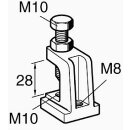 Sikla Trägerklammer TCS 0 M10/M8