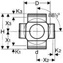 valsir Eck-Abzweig 135° PE 110mm