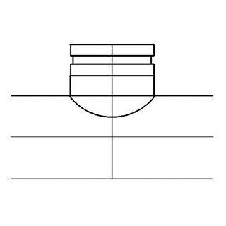 Sattelstück 90° zentriert 150-200mm