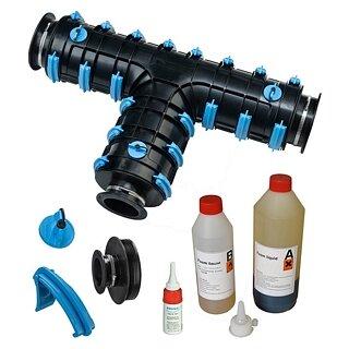 Brugg-Rohrsystem CALPEX SET Calpex Schale CPX-T 126-126-126 mm