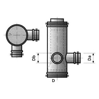 Lindab Spiro Schall- /Geruchsdämpfer 150/125/100