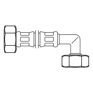 Neoperl FLEXO Anschlussschlauch IG x IG gebogen 3/4x3/4 150 cm